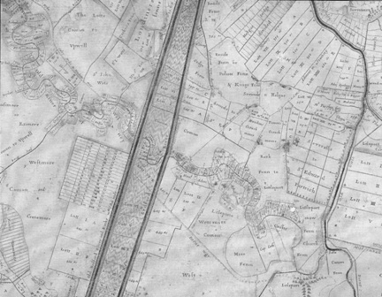 section of Jonas Moore's map